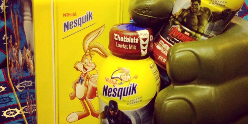 Breakfast with Nesquik and The Avengers