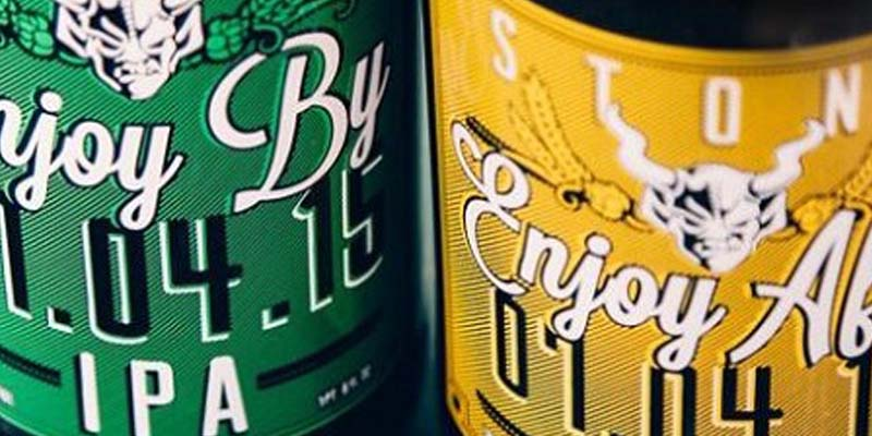 Stone Brewing Enjoy By IPA And Enjoy After Brett IPA