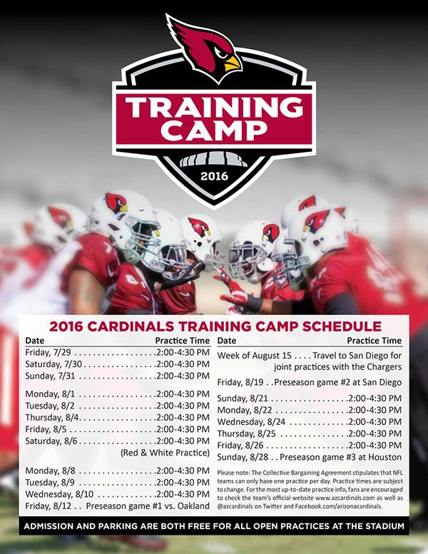 Cardinals Training Camp Hensley Beverage Company