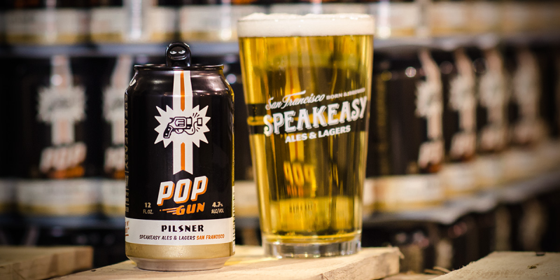 Speakeasy Introduces Pop Gun Pilsner in Cans