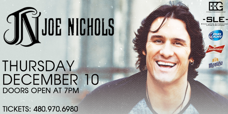Recieve Half Price Tickets to Joe Nichols