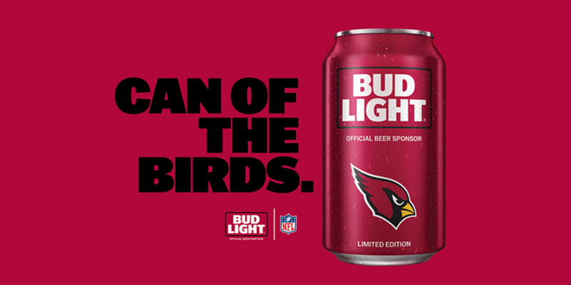 Bud Light Arizona Cardinals Cans Returning For The 2016 17 Season Design Inspirations