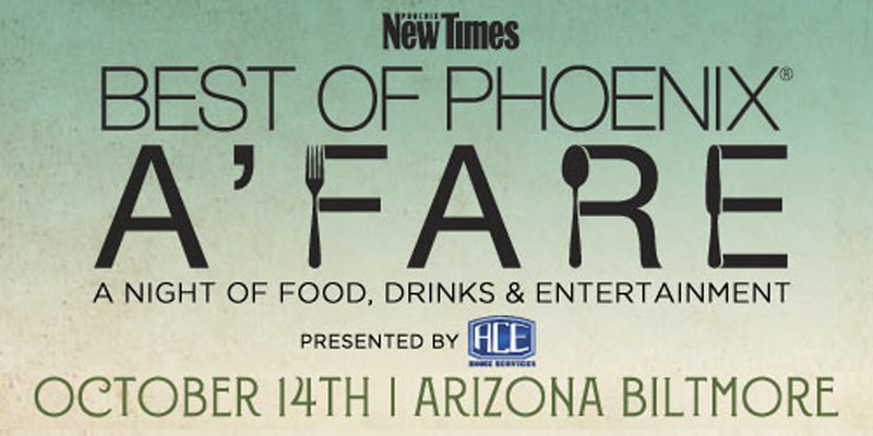Phoenix New Times Announces Best of Phoenix A'fare