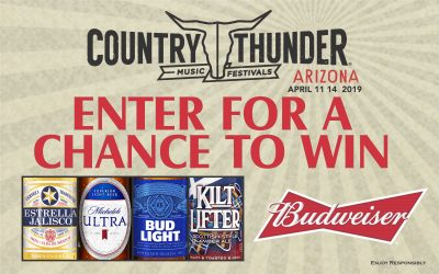 Budweiser Country Thunder 2019 Sweepstakes