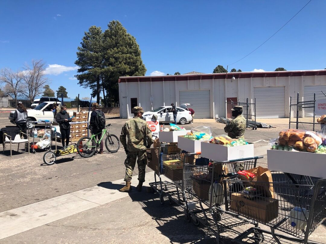 optimized National Guard at Flagstaff Food Bank